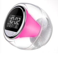 China Digital Alarm Clock with 7 Color Changing Led Light on sale