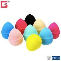 Buy cheap Amazon FBA drop egg shape latex cosmetic Puff with belt Makeup Sponge Blender makeup tools from wholesalers