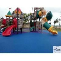 Buy cheap ASTM certificated non-toxic safety EPDM rubber flooring kindergarten playground from wholesalers