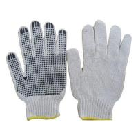 Buy cheap 7 Gauge Natural White Cotton Glove With PVC Dotted from wholesalers