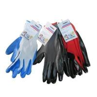 Buy cheap Grey Nitrile Coated Gloves Nylon Coated Rubber Nitrile Gloves from wholesalers