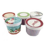 Custom Cheap Recycled Disposable Ice Cream Paper Cup with Lid