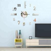 Buy cheap 3d wall sticker clock Home Decor diy modern wall clocks acrylic mirrored decorative stickers from wholesalers