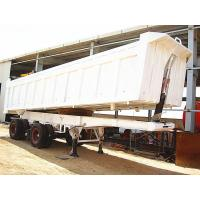 Buy cheap A7 Tractor Truck 2 Axles End Dump Semi Trailer from wholesalers