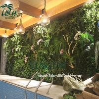 Buy cheap Wholesale Plastic Artificial Green Wall Covering from wholesalers