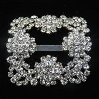 Buy cheap metal rhinestone shoe buckles for women's shoe ornaments from wholesalers