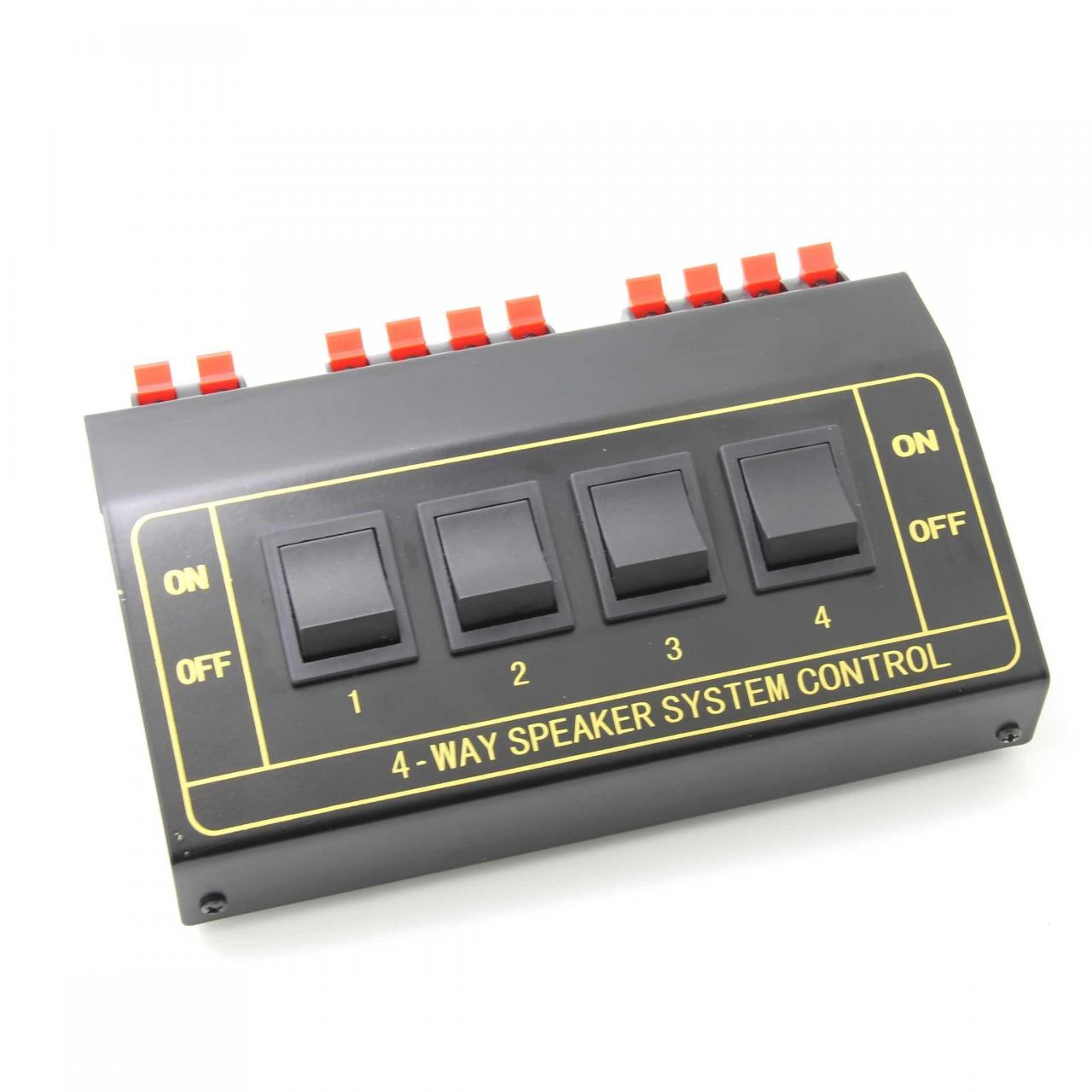 Buy cheap wuernine 4 Way Pair Stereo Speaker Selector Switcher Splitter Switch Box from wholesalers