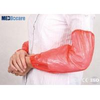 Buy cheap Disposable arm covers for arms red color plastic protection for veterinary supply from wholesalers