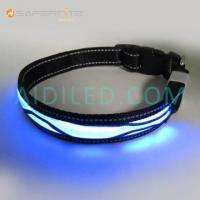 USB Rechargeable Dog Collar Usb Rechargeable Light-Up Luminescence Safety Dog Collars