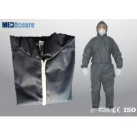 Disposable safety suits heavy weight dark blue breathable and comfortable for dust free plant