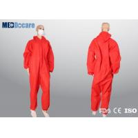 Buy cheap Coloured overalls red non woven fabric contract cleaners and management company from wholesalers
