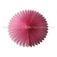 Buy cheap Colorful Petal Shaped Round Tissue Paper Fan Decorations Customized Diy Paper Fans from wholesalers