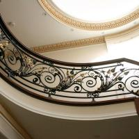 Buy cheap Wrought Iron Railing Handmade wrought iron stair railing S-R-0004|LONGBON from wholesalers