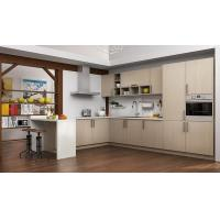 Buy cheap OP16-M07-Commercial Prefab Melamine Light Wood Grain Kitchen from wholesalers