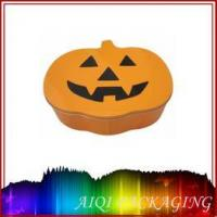 pumpkin shaped tin box