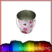 easter basket tin box with handle
