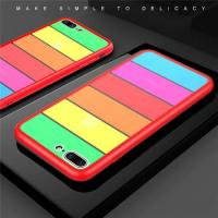 Buy cheap Shockproof Rainbow glass case cover iphone from wholesalers