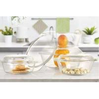 Buy cheap 880ml Heat Resistant High Borosilicate Glass Salad Bowl from wholesalers