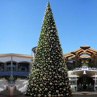 Commercial big Christmas tree with gold balls