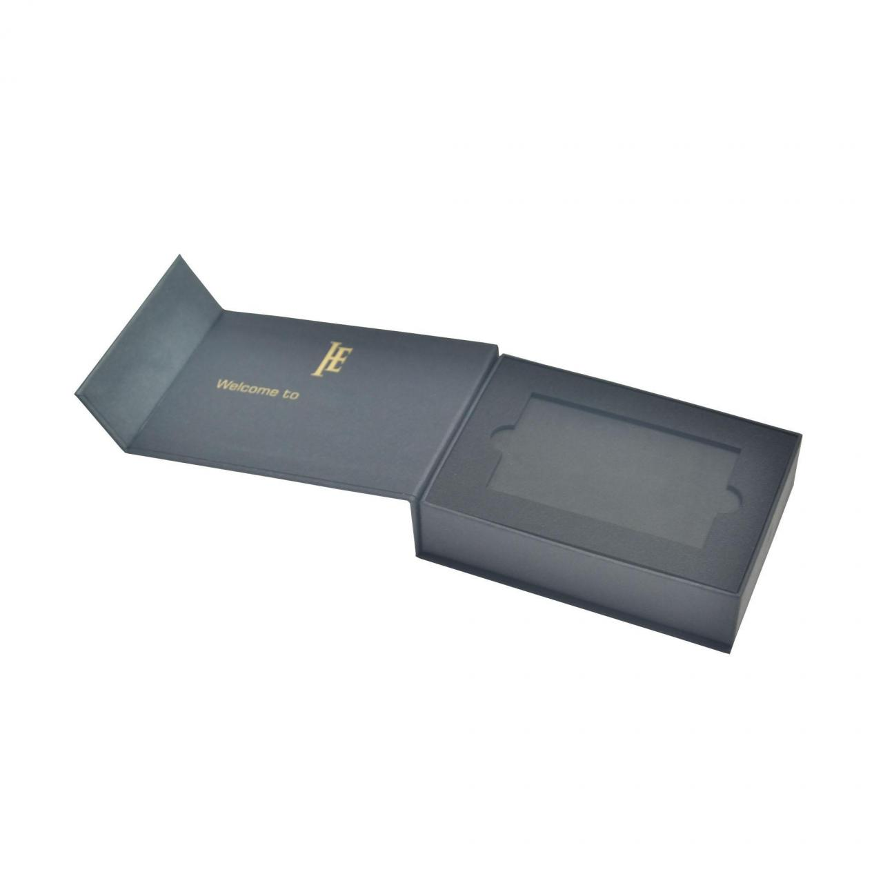 Buy cheap Promotional Gift Card Paking Gift Boxes Custom Logo Hot Stamping product
