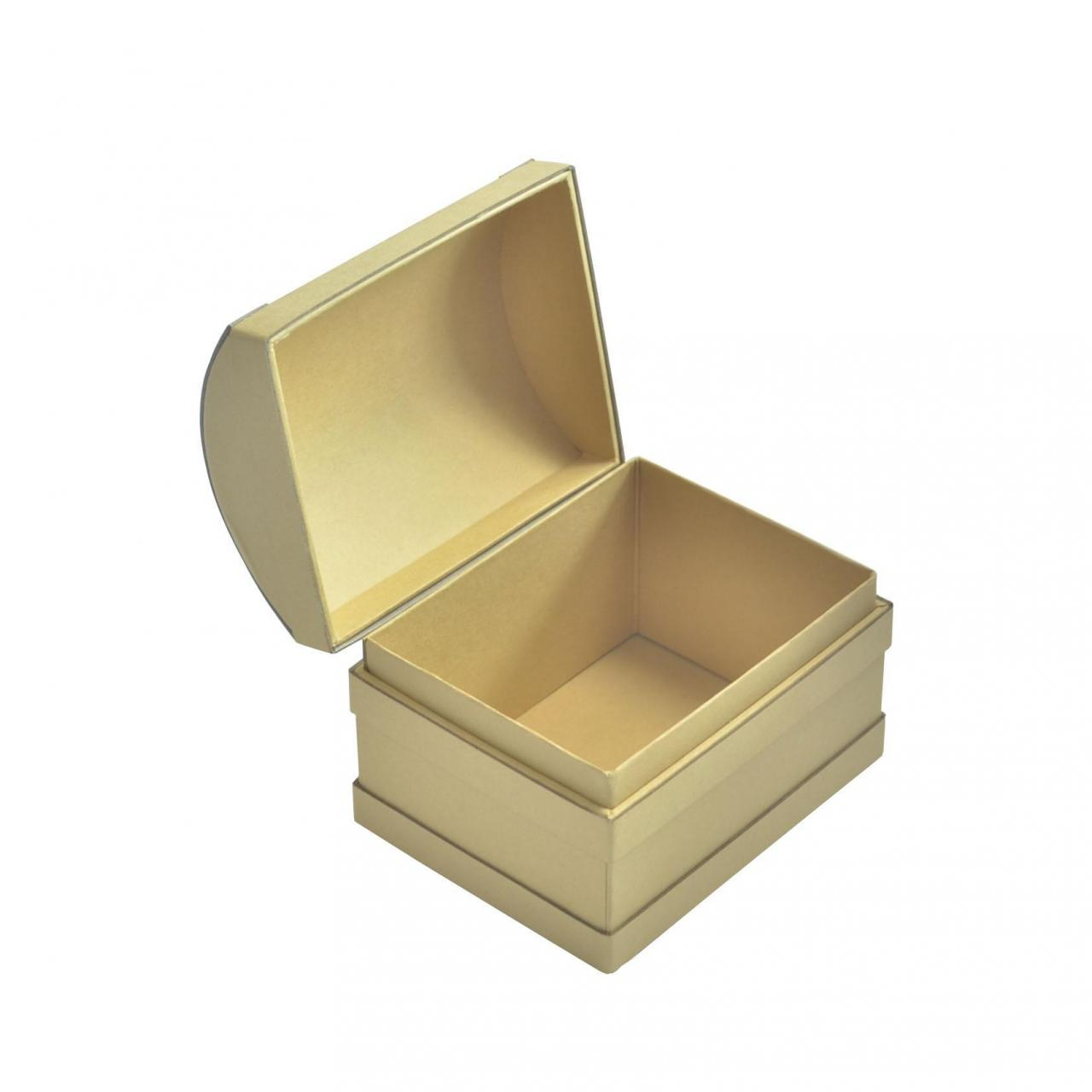 Buy cheap Kraft Paperboard Treasure Chest Gift Box For Storage Custom Design from wholesalers