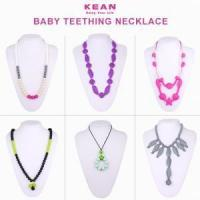 Buy cheap OEM design simple silicone baby teething necklace from wholesalers