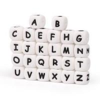 10mm Pacifier Clip Letter Silicone Beads