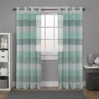 Buy cheap Striped Sheer Curtains for Living Room - 2 Panels - Faux Linen Grommets Window Curtains from wholesalers