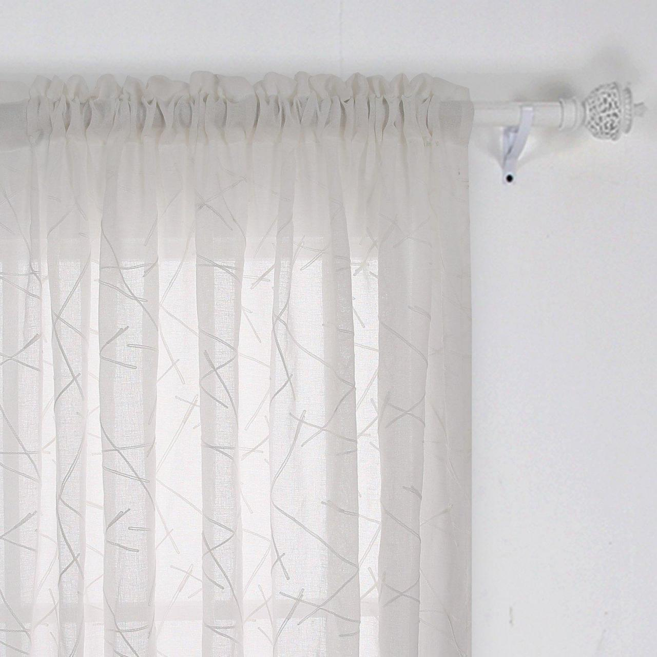 Buy cheap Simple design sheer fabric curtain rob pocket style from wholesalers