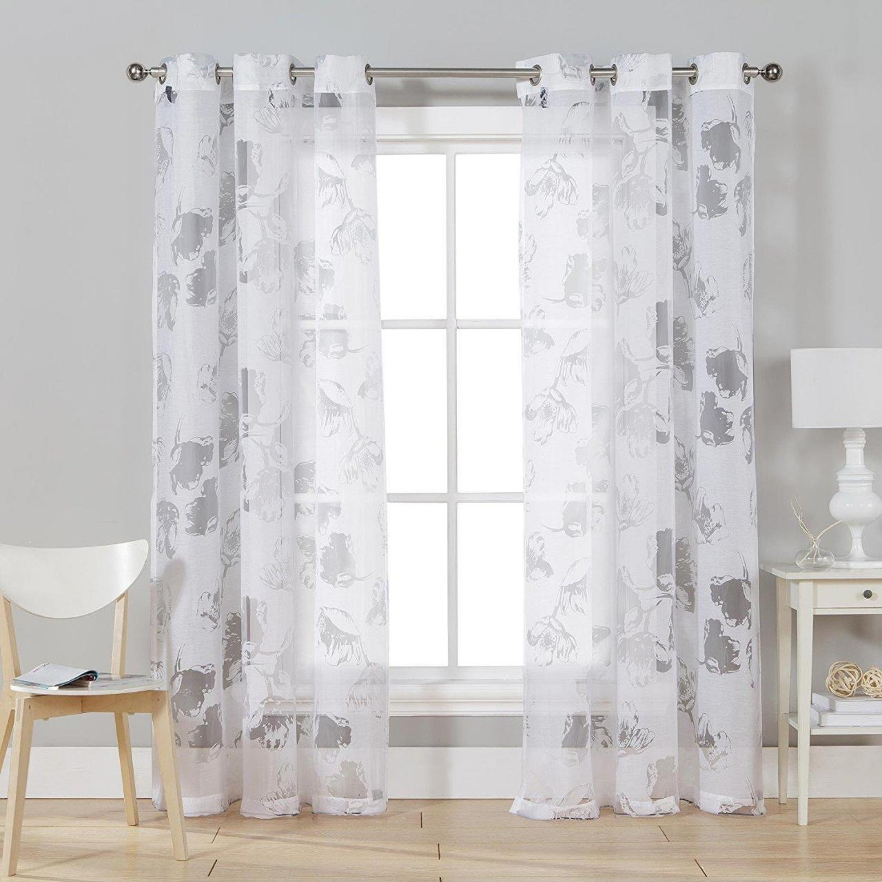 Buy cheap printing sheer voile window curtains from wholesalers