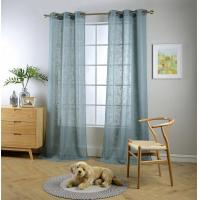 Buy cheap Teal linen fabric window product