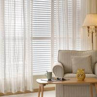 Buy cheap stripe linen curtain product