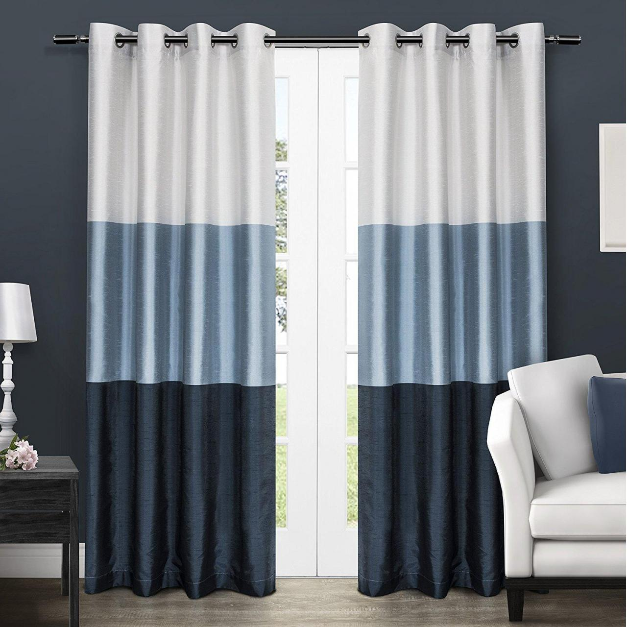 Buy cheap Chateau Striped Faux Silk Window Curtain Panel Pair with Grommet Top product