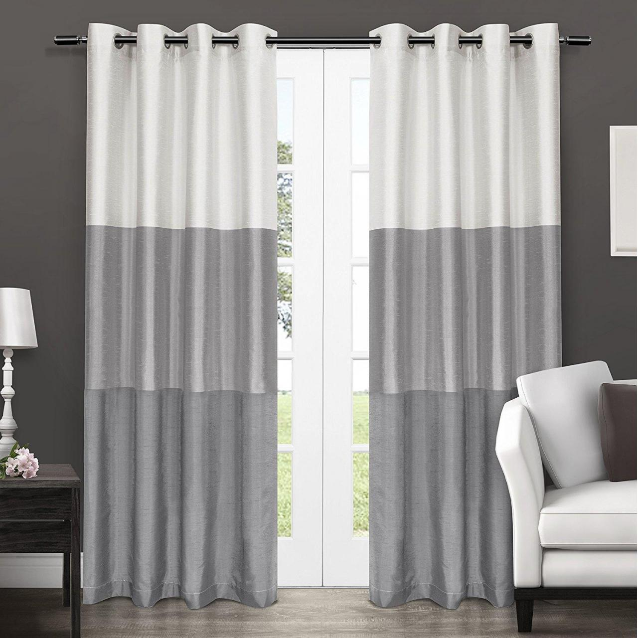 Buy cheap Classic color silk window curtain dove grey product