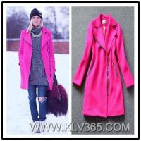 Buy cheap Ladies Fashion Designer Winter Wool Long Coat Wholesale from wholesalers