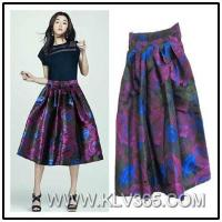 Buy cheap Summer Fashion Ladies Floral Printed Flared Pleated Skirt from wholesalers