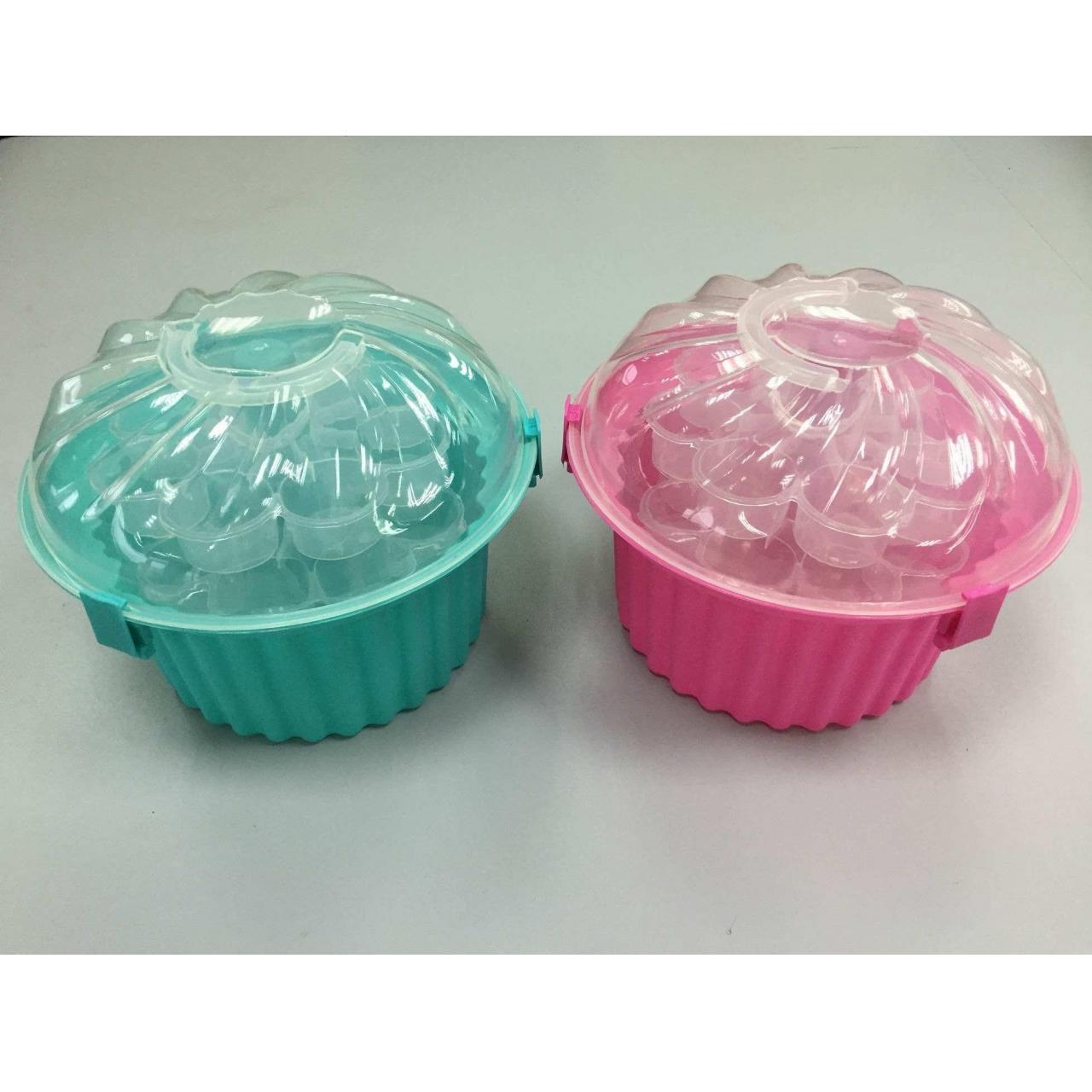 Buy cheap 3 Tier Cupcake Holder and Cake Carrier Container from wholesalers