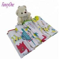 hot sale many colors soft 100% cotton baby handkerchief animal printed