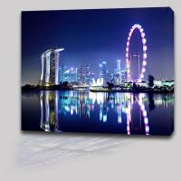 Buy cheap LED Light Wall Art Decor Painting Ferris Wheel Shining On Stretched Canvas from wholesalers