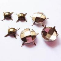 Buy cheap Antique Brass Studs with Faceted for Leather product