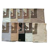Buy cheap 10 Colors Twill 50 inches Saudi Arab Yemen Muslim Embroidered Scarf for men from wholesalers