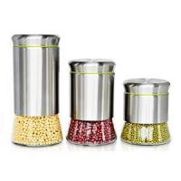 Buy cheap Kitchenware Stainless steel and glass storage jars product