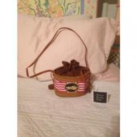 Buy cheap Nwt New Bosom Buddy Bags Straw Horse Jockey Red White Purse Long Kentucky Derby from wholesalers