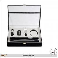 Buy cheap Wholesale Wine Accessory Wine Stopper Gift Set With Leather Box from wholesalers