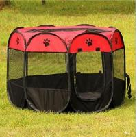 Buy cheap Outdoor folding pet fence tent dog cage cat cage removable and washable octagonal pet cage from wholesalers