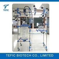 Buy cheap 200L Cylindrical Jacketed Pharmaceutical Glass Reactors from wholesalers