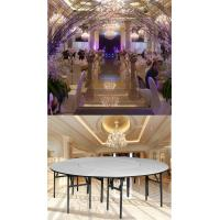 Buy cheap Hotel Round PVC folding table for banquet from wholesalers