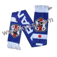 Buy cheap Printed Football Scarf Japan Printed Polyester Fleece Football Scarf from wholesalers