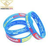 Buy cheap custom logo screen printed silicone wristband printed silicone bracelet from wholesalers