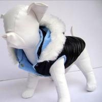 Buy cheap Pet Garments NylonDogCoatwithrabbitfurhat,availableinblue,blackandwhite product